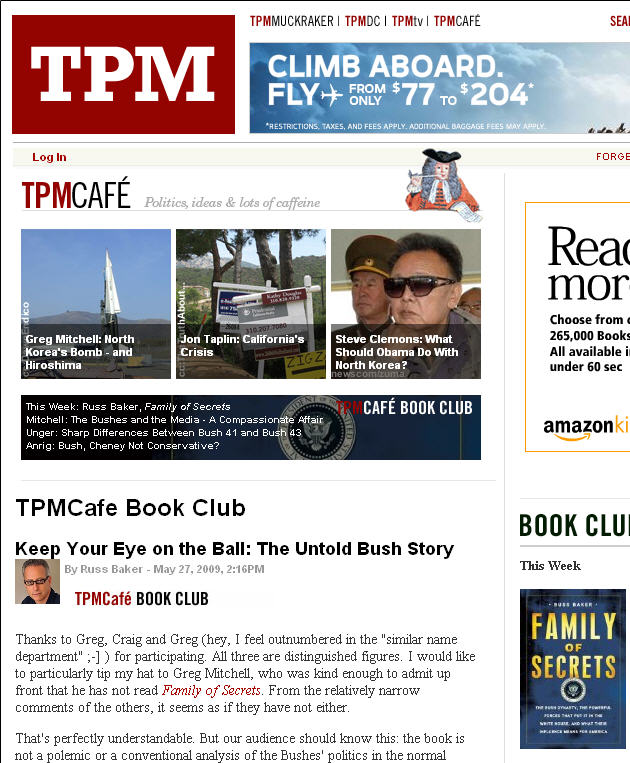 TPMCafe Book Club on Family of Secrets